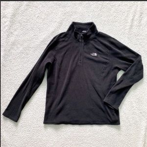 The North Face Black Long-Sleeve Zip Neck